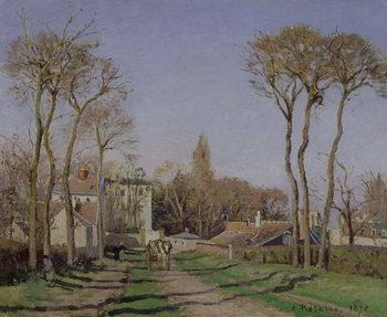 Reprodução do quadro Entrance to the Village of Voisins, Yvelines, 1872