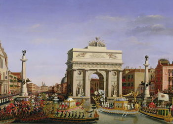Reprodução do quadro Entry of Napoleon I (1769-1821) into Venice, 1807