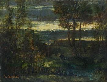 Reprodução do quadro Evening Landscape