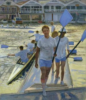 Reprodução do quadro Evening Return, Henley, 1998