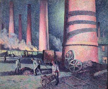 Reprodução do quadro Factory Chimneys, 1896