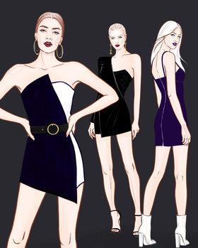 Ilustração Fashion Girls - 2