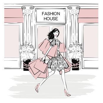 Ilustração Fashion House