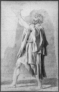 Reprodução do quadro Father of the Horatii, study for 'The Oath of the Horatii', c.1785