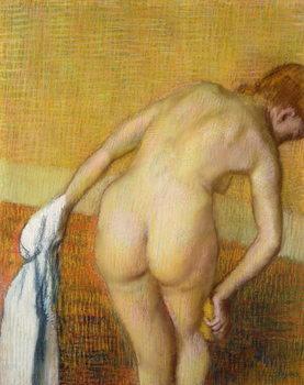 Reprodução do quadro Femme Prennant au Bain, 1886
