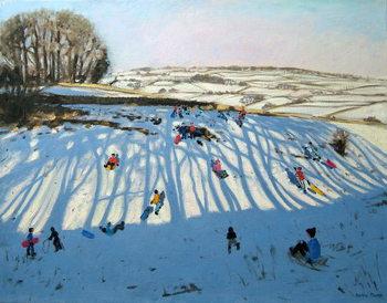 Reprodução do quadro Fields of Shadows, Monyash, Derbyshire