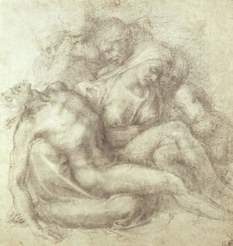Reprodução do quadro Figures Study for the Lamentation Over the Dead Christ, 1530
