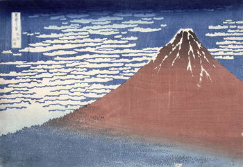 Reprodução do quadro Fine weather with South wind, from 'Fugaku sanjurokkei' (Thirty-Six Views of Mount Fuji) c.1831