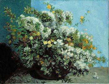 Reprodução do quadro Flowering Branches and Flowers, 1855