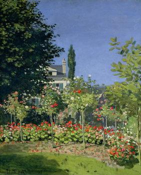 Reprodução do quadro Flowering Garden at Sainte-Adresse, c.1866