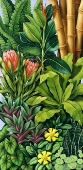 Reprodução do quadro Foliage III