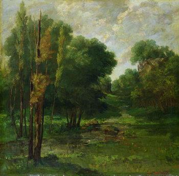 Reprodução do quadro Forest Landscape, 1864