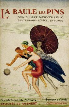 Reprodução do quadro French  by Leonetto Cappiello for the societe Generale fonciere of La Baule les Pins, France, 30's
