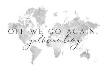 Ilustração Gallivanting around the world map