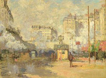 Reprodução do quadro Gare Saint Lazare, 1877