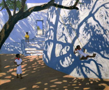 Reprodução do quadro Girl on a Swing, India, 2000