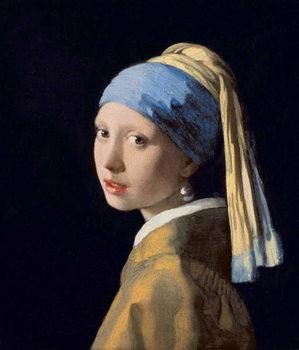 Reprodução do quadro Girl with a Pearl Earring, c.1665-6