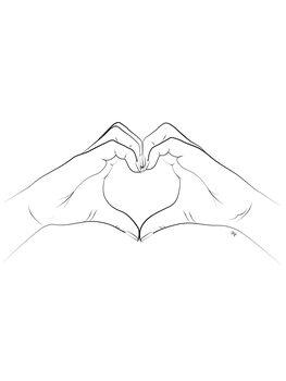 Ilustração Hand Heart