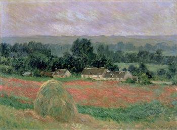Reprodução do quadro Haystack at Giverny, 1886