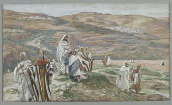 Reprodução do quadro He Sent them out Two by Two, illustration from 'The Life of Our Lord Jesus Christ', 1886-96