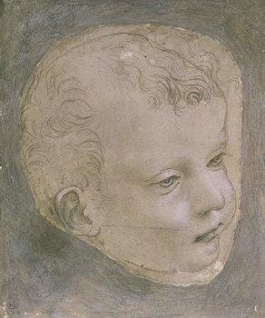 Reprodução do quadro Head of a Child