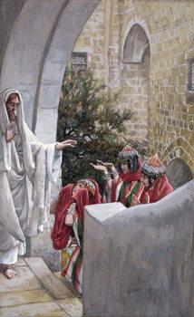 Reprodução do quadro Healing of the Canaanite's Daughter, illustration for 'The Life of Christ', c.1886-94