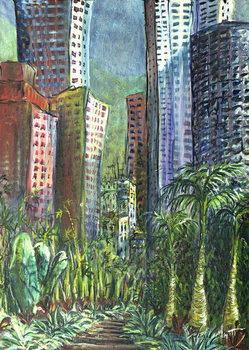 Reprodução do quadro High Rise, Hong Kong, 1997