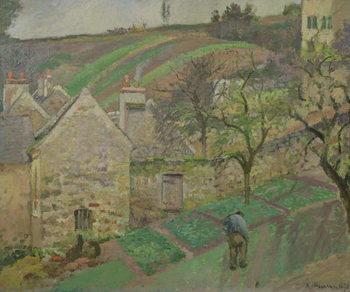 Reprodução do quadro Hillside of the Hermitage, Pontoise, 1873