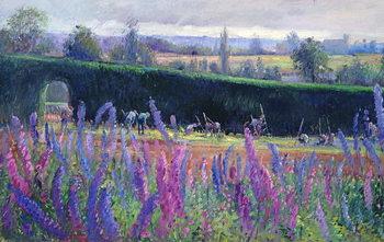 Reprodução do quadro Hoeing Against the Hedge, 1991
