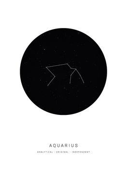 Ilustração horoscopeaquarius
