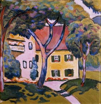 Reprodução do quadro House in a Landscape