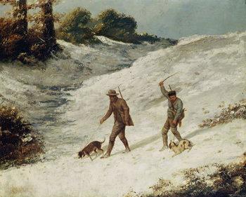Reprodução do quadro Hunters in the Snow or The Poachers