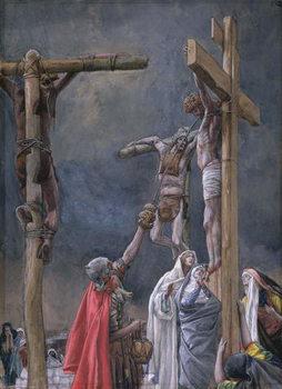 Reprodução do quadro I Thirst. The Vinegar Given to Jesus, illustration for 'The Life of Christ', c.1884-96