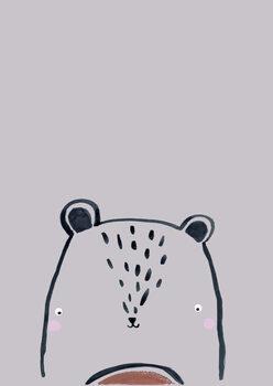 Ilustração Inky line teddy bear