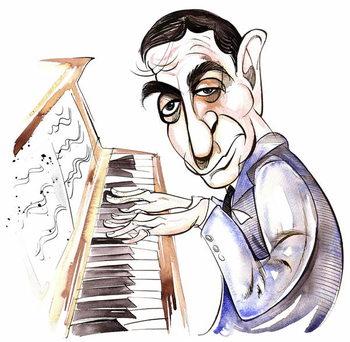 Reprodução do quadro Irving Berlin - caricature
