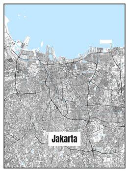 Mapa de Jakarta