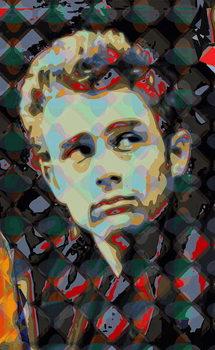 Reprodução do quadro James Dean