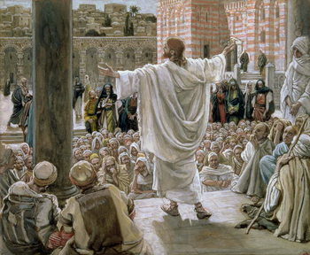 Reprodução do quadro 'Jerusalem, Jerusalem', illustration for 'The Life of Christ', c.1886-96