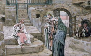 Reprodução do quadro Jesus and the Little Child, illustration for 'The Life of Christ', c.1886-94