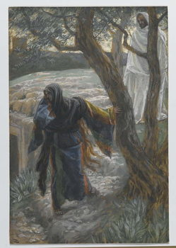 Reprodução do quadro Jesus Appears to Mary Magdalene, illustration from 'The Life of Our Lord Jesus Christ', 1886-94