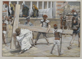 Reprodução do quadro Jesus Bearing the Cross, illustration from 'The Life of Our Lord Jesus Christ', 1886-94