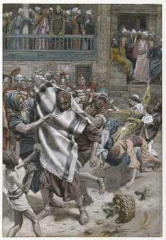 Reprodução do quadro Jesus Before Herod, illustration from 'The Life of Our Lord Jesus Christ', 1886-94