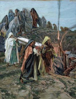 Reprodução do quadro Jesus Carried to the Tomb, illustration for 'The Life of Christ', c.1886-94