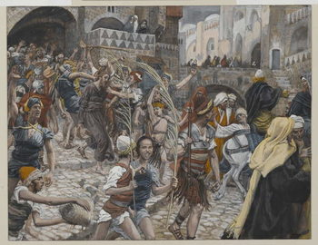 Reprodução do quadro Jesus Led from Caiaphas to Pilate, illustration from 'The Life of Our Lord Jesus Christ', 1886-94