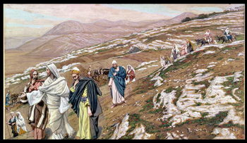 Reprodução do quadro Jesus on his way to Galilee, illustration for 'The Life of Christ', c.1886-96