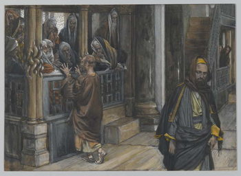 Reprodução do quadro Judas Goes to the Find the Jews, illustration from 'The Life of Our Lord Jesus Christ', 1886-94