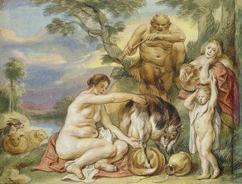 Reprodução do quadro Jupiter as a Child