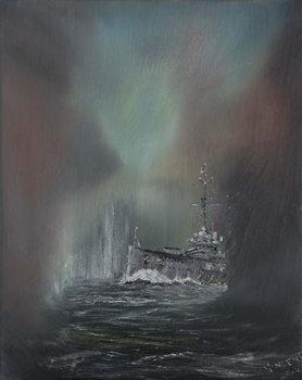 Reprodução do quadro Jutland May 31st 1916, 2014,