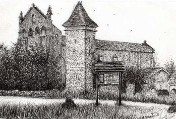 Reprodução do quadro L'Abbeye Blassimon France, 2010,