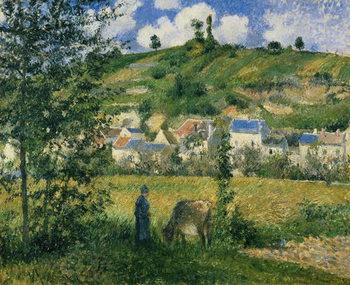 Reprodução do quadro Landscape at Chaponval, 1880